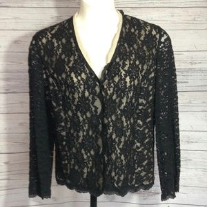 Talbots Lace lined Blazer